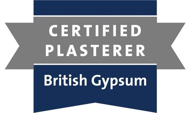 Ralph Plastering are certified British Gypsum plasterers